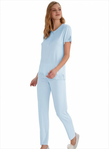 Ayyıldız Pijama Takım Mavi